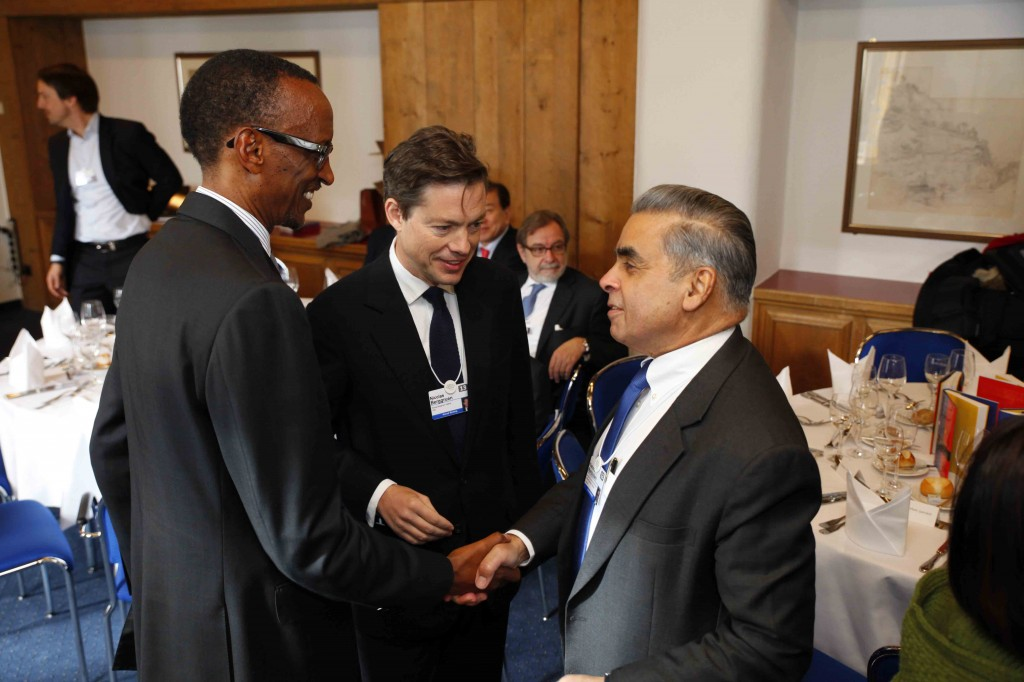 World Economic Forum: Berggruen and Kagame talk with Kishore Mahbubani