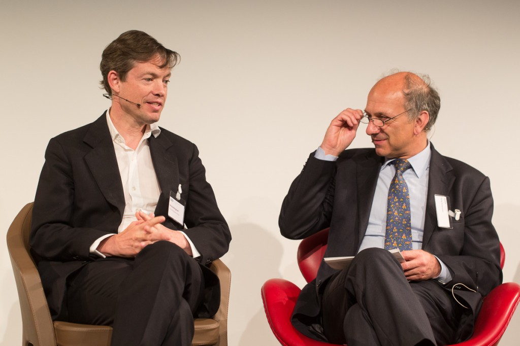 At the GDI in Zurich: (from left) Nicolas Berggruen, Haig Simonian